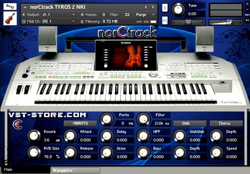 tyros 2 vst norctrack