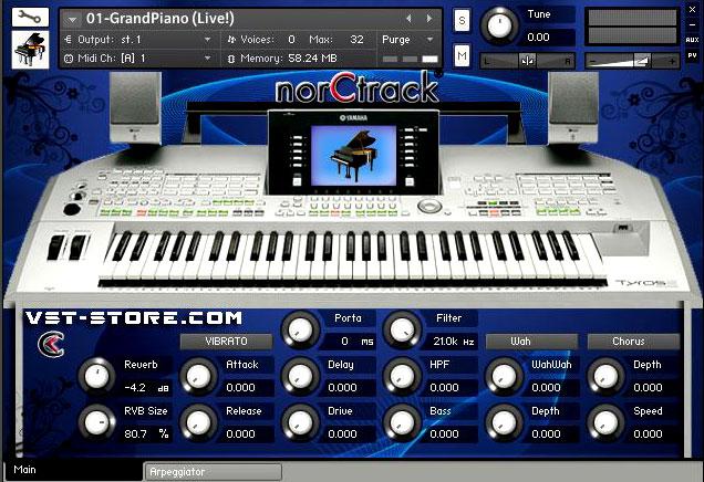 norCtrack Studio - Yamaha TYROS 2 | Kontakt