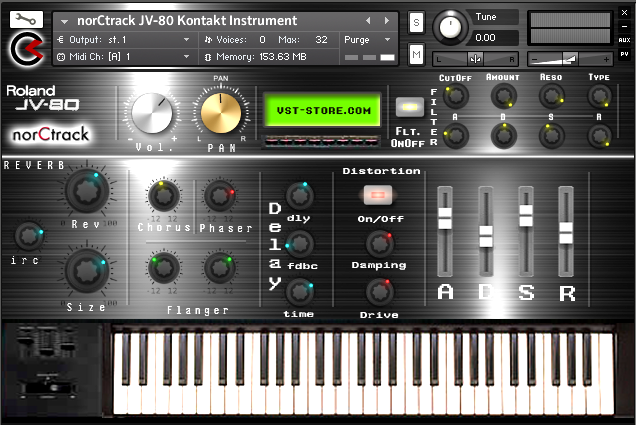 Roland JV80 Kontakt Instrument Released - norCtrack | Virtual