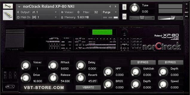 roland xp80 virtual instrument