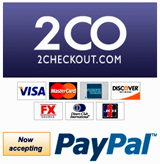 paypal, 2co, visa, master card